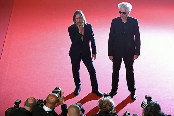 Iggy Pop et Jim Jarmusch à Cannes en 2016.