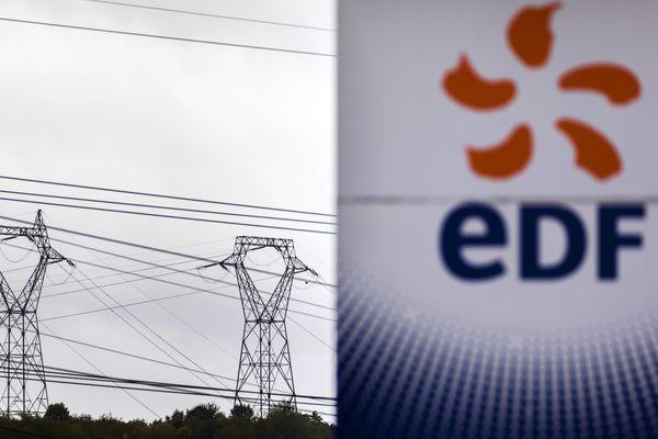 Des agents EDF protestent, d'une part contre la fin annoncée de leur régime spécial de retraite, et d'autre part contre un projet de privatisation de la partie énergies renouvelables de l'entreprise publique.