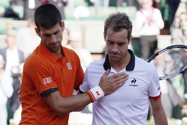 Novak Djokovic n'a fait qu'une bouchée du Sérignanais Richard Gasquet - 1er janvier 2015