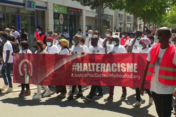 19 juillet 2020 - Rouen : rassemblement en hommage à Mamoudou Barry un an après sa mort