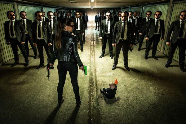 L'univers de Matrix recomposé par François Sola. Prise de vue au garage et longues heures de photo-montage