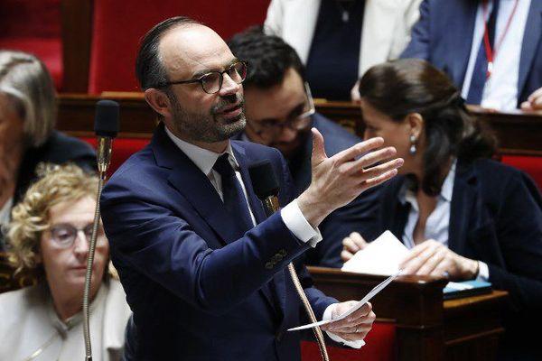 Le Premier ministe Edouard Philippe évoquait l'avenir du groupe Doux, ce mercredi, sur une question de M. Ferrand lors des Questions au gouvernement de l'Assemblée nationale.