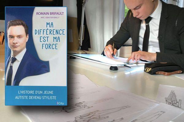 Le styliste Romain Brifault à sa table de travail