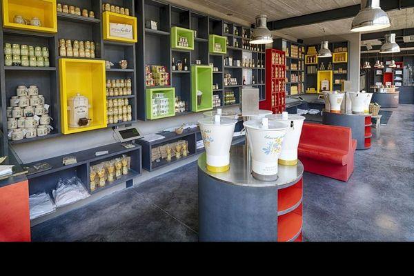 La boutique de la Moutarderie Fallot à Beaune