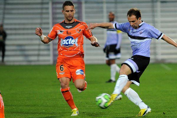 Lors de la 31ème journée de ligue 2 le 05 avril 2012  entre Laval et Istres