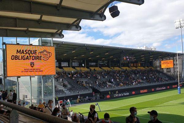 Le 5 septembre dernier, 8000 spectateurs avaient assisté au match contre Toulon