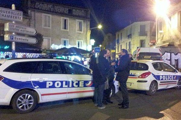 Montpellier - opération de police dans les quartiers de Figuerolles et du Plan Cabanes - 20 février 2014.