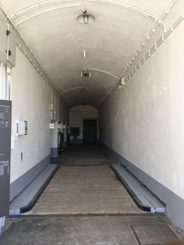 Intérieur du fort d'Eben-Emael en Belgique.