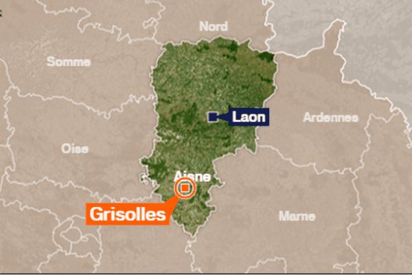 L'accident s'est produit à Grisolles, commune du sud de l'Aisne.