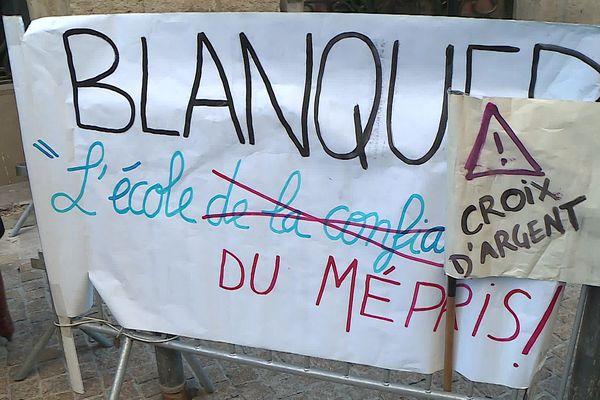 A la rentrée prochaine, il manquerait 50 heures d'enseignement, soit l'équivalent de trois postes d'enseignants au collège Croix d'Argent de Montpellier.