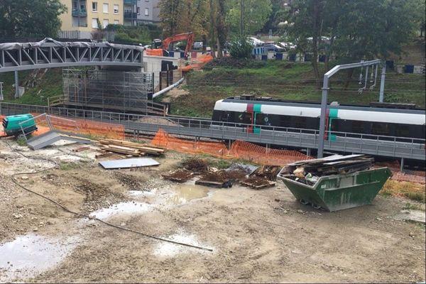 Le chantier du tiroir de retournement d'Orsay, en Essonne.
