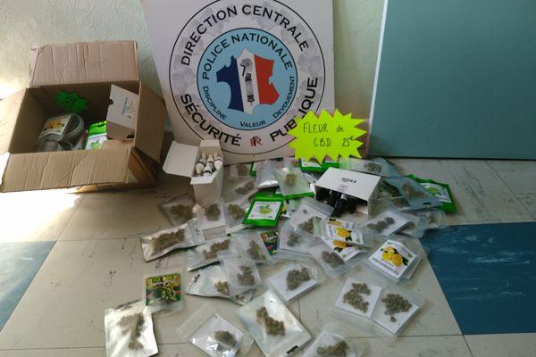 La police a saisi des produits dans deux boutiques de cannabis CBD à Vesoul