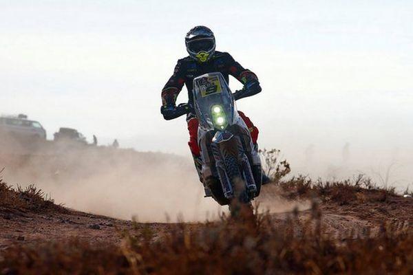 A mi-course, Vadid Catseu occupe la 21ème place du Dakar.