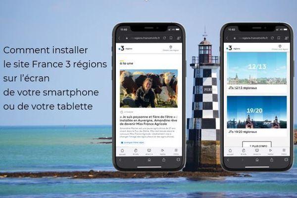Ajouter les sites france 3 régions sur l'écran de votre smartphone