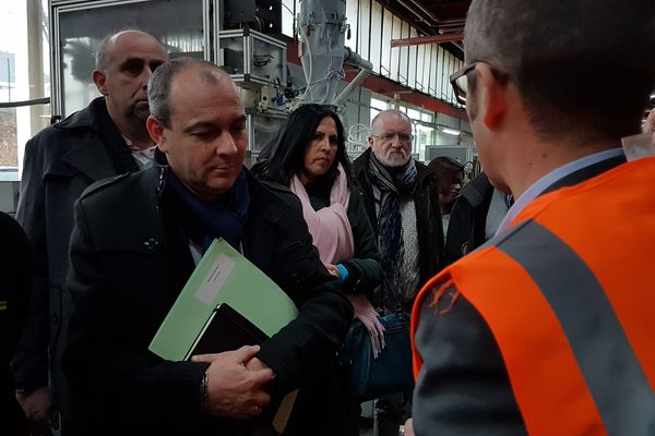 Laurent Berger est venu rendre visite aux équipes syndicales de l'entreprise Stanley.