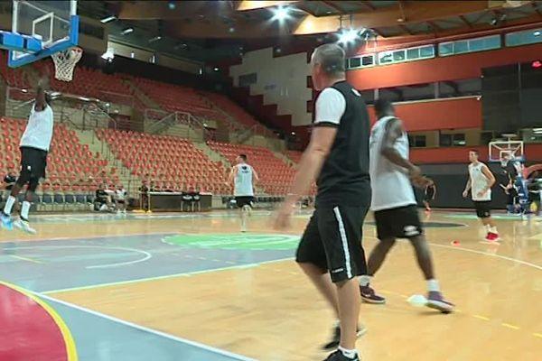 L'équipe de la JDA à l'entraînement au Palais des Sports, jeudi 9 août 2018