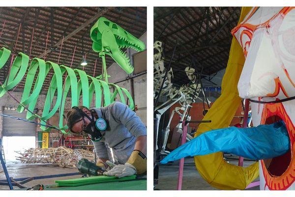 """L'association Arachmina prépare dix """"Bidulos"""" pour le carnaval de Strasbourg"""