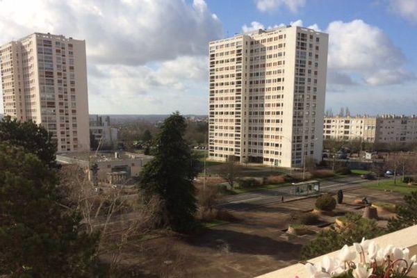 Le quartier des Couronneries à Poitiers (février 2017).