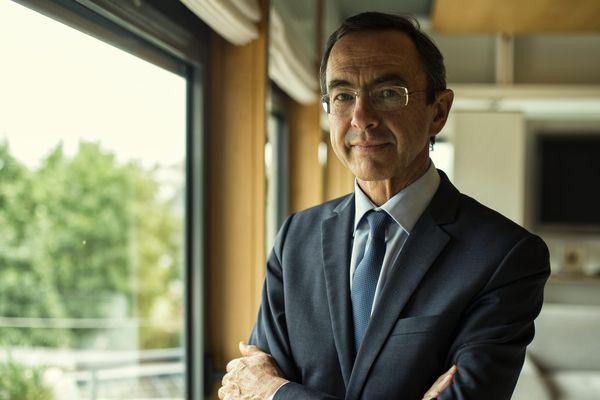 Bruno Retailleau le 8 septembre, alors qu'il annonçait quitter la tête de l'exécutif de la région Pays de la Loire pour le Sénat, en raison de la règle de non-cumul des mandats.