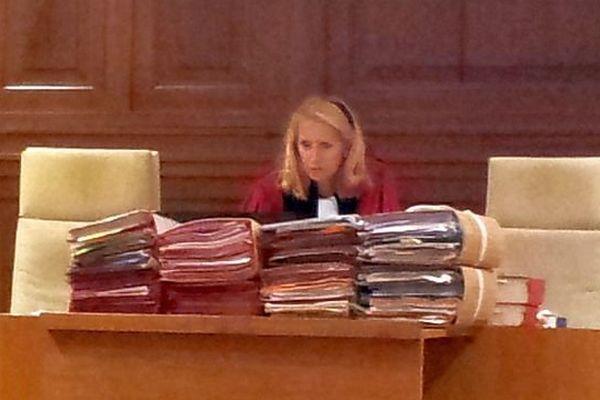 Nîmes - la présidente de la cour d'assises de révision, Geneviève Perrin - juillet 2014.