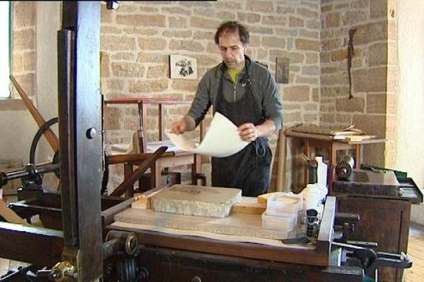 Le lithographe Patrice Gouttefanjat d'Arbois