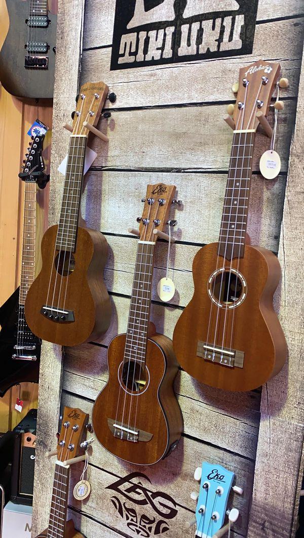 Les instruments de petites tailles sont bien appréciés , le Ukulélé en fait partie