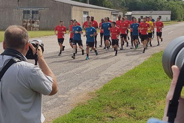 Reprise de l'entraînement à l'AS Nancy Lorraine mardi 18 juin 2019.