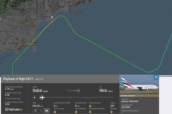 L'A380 d'Emirates n'a pas réussi à se poser à Nice ce mardi.