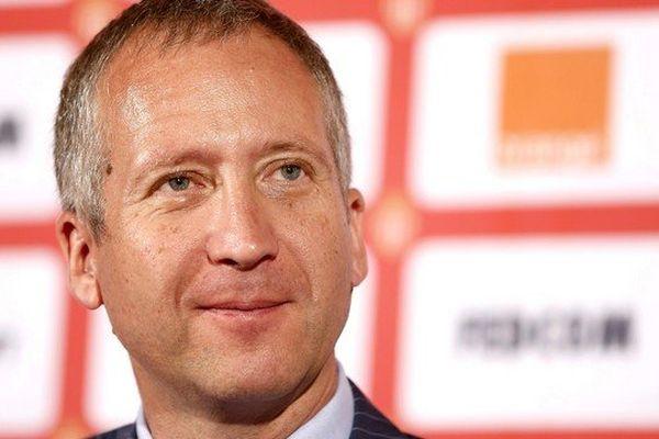Vadim Vasilyev, vice-président de l'AS Monaco, lors d'une conférence de presse.