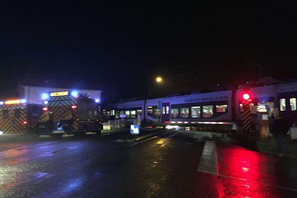 Les secours mobilisés après l'accident sur la commune de la Haie-Fouassière (Loire-Atlantique)
