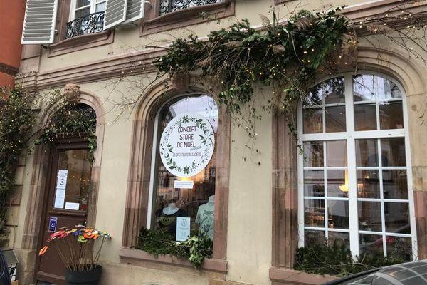 La boutique éphémère de Noël du made in Alsace, se situe place Saint-Etienne à Strasbourg