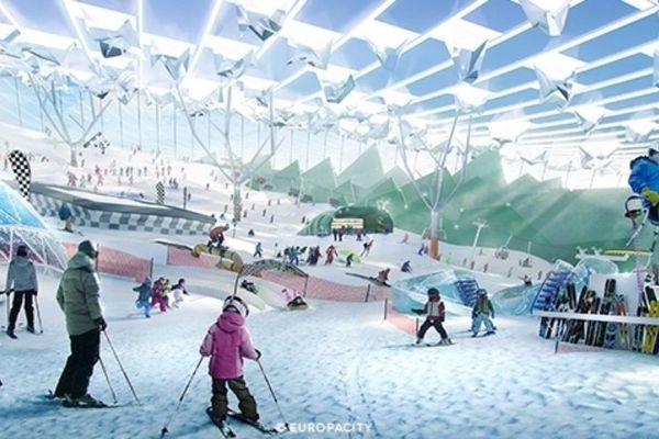 """Les promoteurs d'EuropaCity devraient annoncer ce vendredi que le parc des neiges n'est """"pas conforme à l'ambition environnementale du projet""""."""