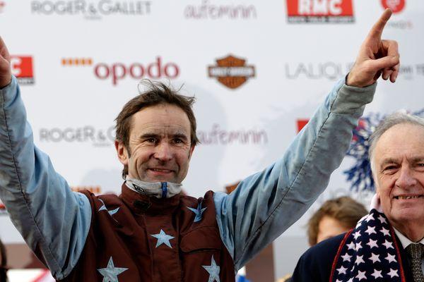 JM Bazire, Sulky d'Or 2018, ici lors du 94e Grand Prix d'Amérique, en 2015
