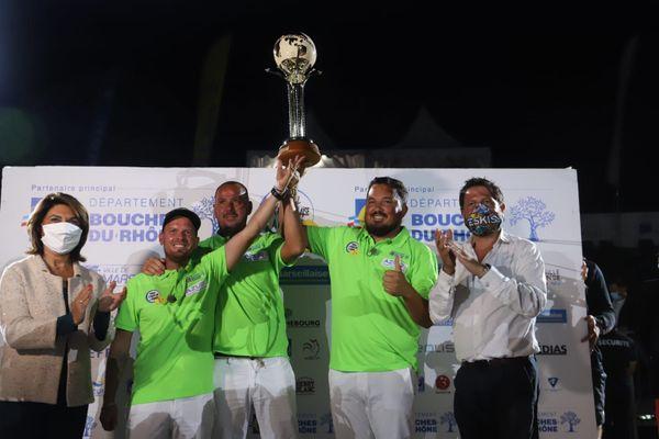 Mondial La Marseillaise à pétanque :  la triplette Puccinelli-Renaud-Montoro vainqueur de la finale 2020