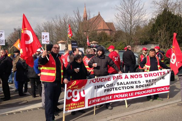 La manifestation des salariés d'Albany (Sélestat)