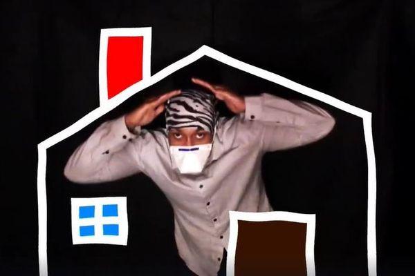 Le rappeur Nébié amiénois raconte le confinement dans un clip sur sa page Facebook.