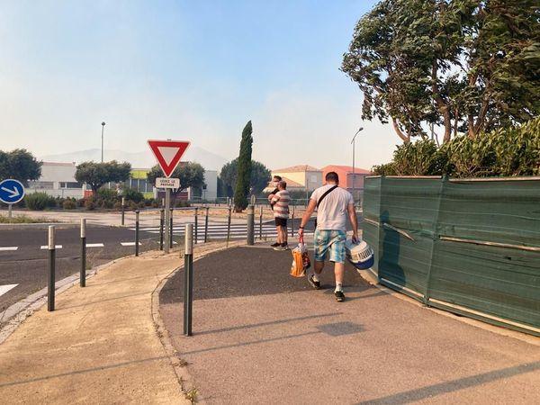 Les gendarmes pont conseillé aux habitants de ce lôtissement entre Néfiach et Millas, d'évacuer leurs maisons.