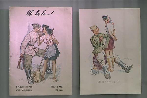Illustrations dans le parcours pédagogique du Mémorial de Caen.