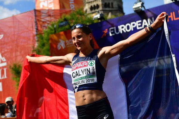 Clémence Calvin le 12 août 2018 au Marathon de Berlin