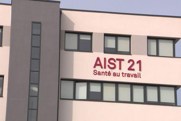 Le bâtiment de l'AIST 21 (Santé au travail) à Dijon Valmy