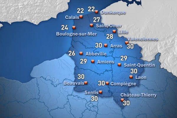 Carte Météo France pour ce samedi après-midi
