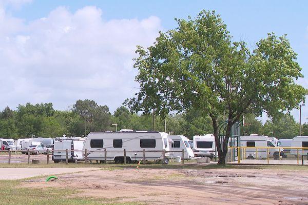 Selon la maire du Barp c'est l'équivalent de 10% de la population locale qui a fait son arrivée en caravanes ce week-end sur la commune.