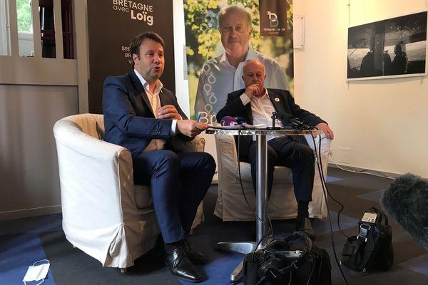 Au lendemain du premier tour des élections régionales en Bretagne, les listes du socialiste Loîg Chesnais Girard et de l'écologiste Daniel Cueff fusionnent - 21 juin 2021