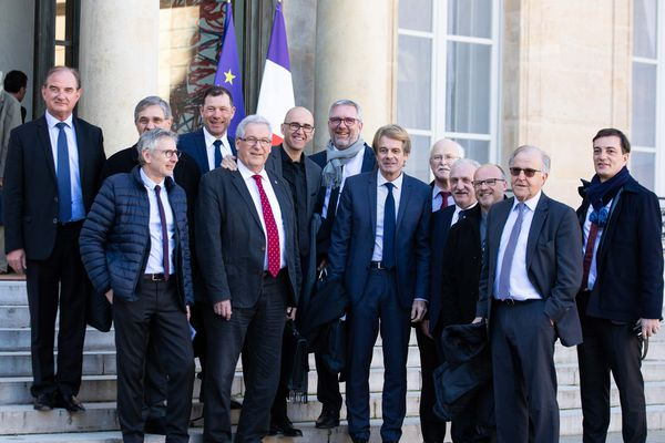Emmanuel Macron a reçu les élus du Grand Est à l'Elysée