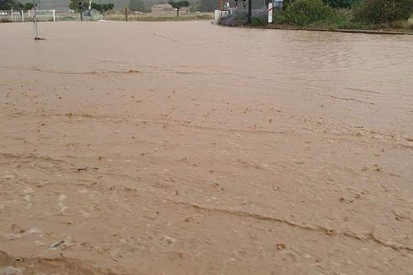 Plus de 50 mm de pluie sont tombés sur la commune de Limoux entre 18 h et 19 h ce jeudi.