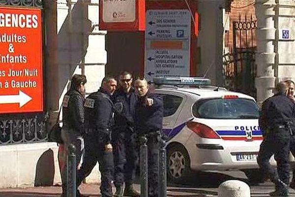 Montpellier - une fusillade à la clinique Saint-Jean a fait un mort et un blessé, le quartier est bouclé par la police - 10 mars 2016.
