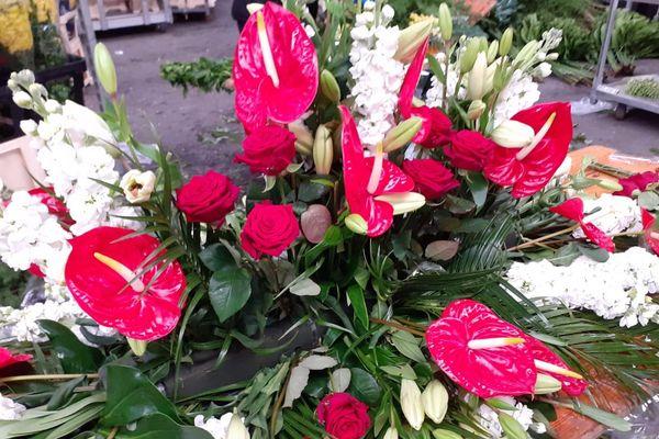 Les compositions réalisées par les fleuristes.