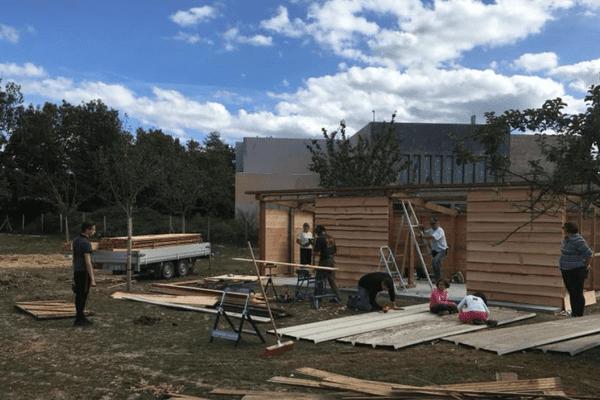 le chantier de la ferme Anymania à Val de Reuil