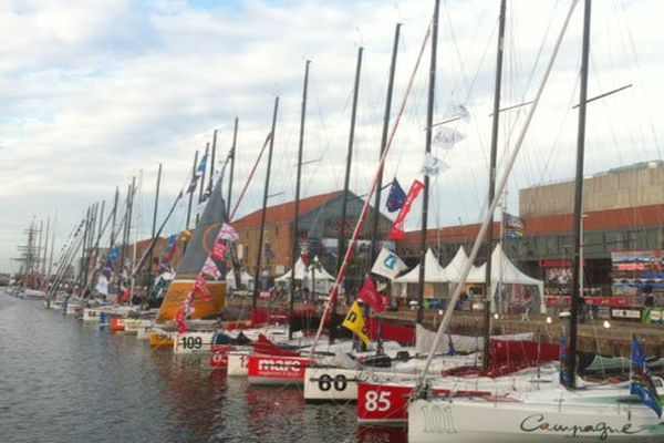 Les bateaux de la Transat tous arrivés au Havre samedi 26 octobre