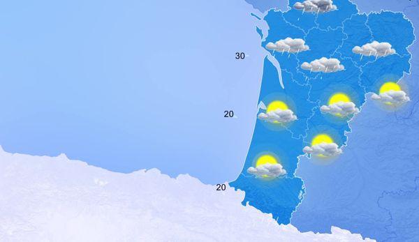 La perturbation arrive par le Poitou et le nord du Limousin...